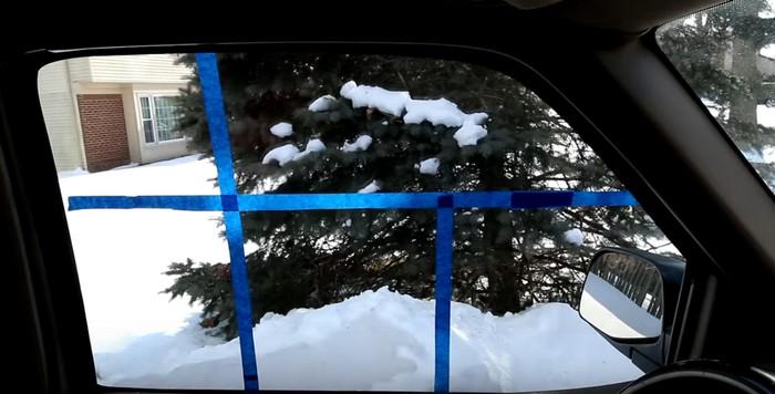 Для чистоты эксперимента, стекло разделили не несколько зон.