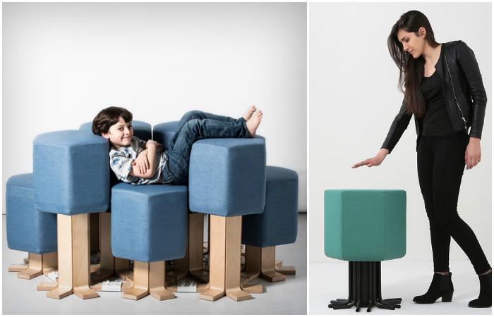 Lift-Bit – модульный диван-трансформер, который заменит всю мебель в доме. А ещё он движется