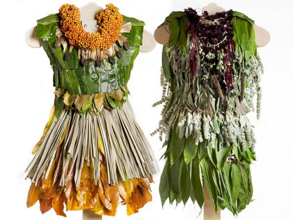 Полностью натуральная арт-коллекция платьев «Little Green Dresses»
