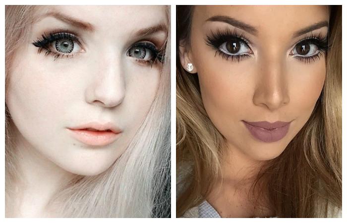 Как сделать макияж что глаза казались большими 746