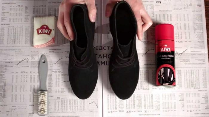 Спрей для растяжки замшевой обуви.