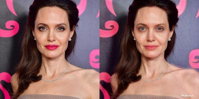 The MakeApp в действии: Анджелина Джоли
