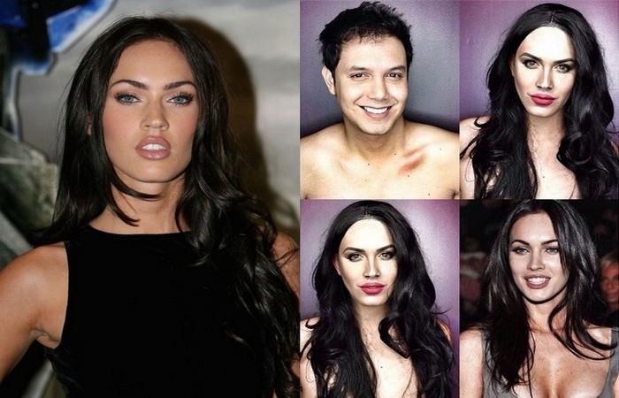 Телеведущий Паоло Баллестерос  (Paolo Ballesteros) примеряет макияж голливудских красавиц
