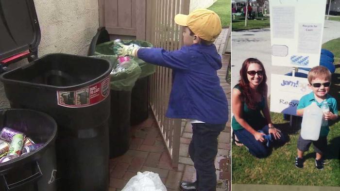 Райан Хикман начал собирать пластиковый мусор в 3 года.