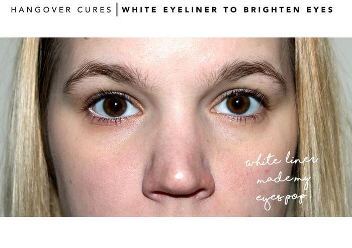 Белый карандаш взбодрит «усталые» глаза.