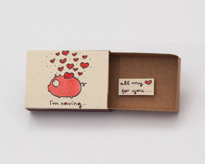 Идея удивительных открыток из спичечных коробков, которые порадуют всех и каждого
