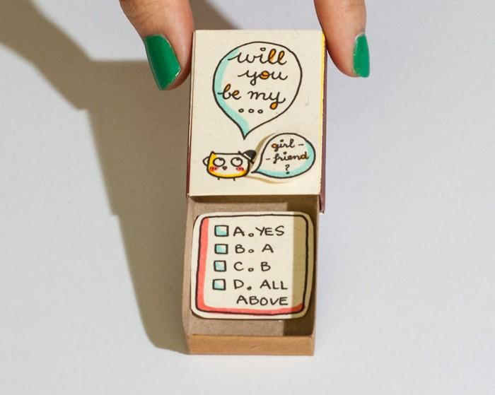 Ідея дивовижних листівок із сірникових коробок, які порадують всіх і кожного