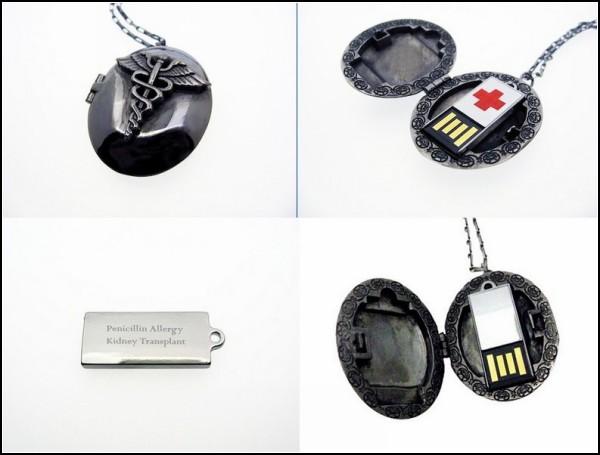 Медальоне сохранит ваши медицинские диагнозы и важные показания