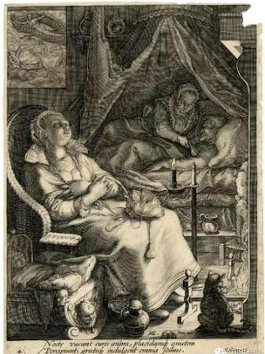 «Прерванный сон» на гравюре 1595-го года.