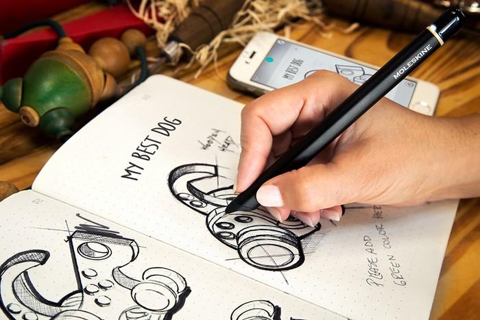 Блокнот от Moleskine, который «на ходу» превратит рукописные заметки в цифровые