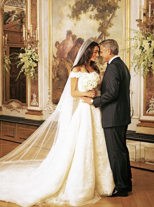 vestido de noiva deslumbrante, Sra Clooney