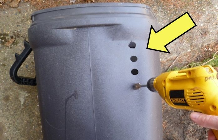 Зачем делать дырки в контейнер для мусора.