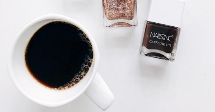 С чего начать день? С чашки кофе и кофейного маникюра!