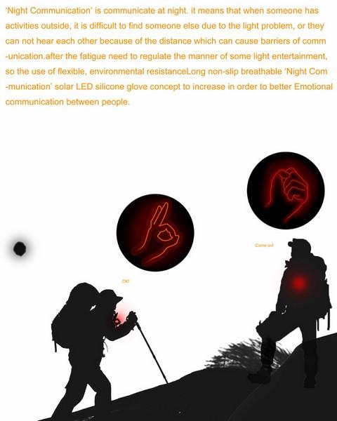 Перчатки для ночного общения Night Communication