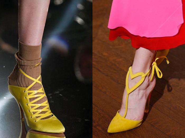 Яркие туфли – праздничное настроение.