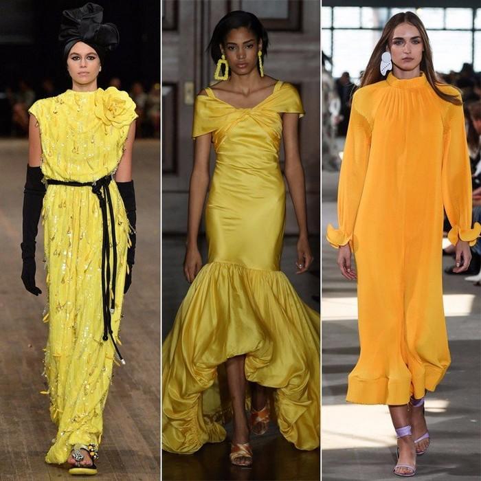 Жёлтые платья в фаворе у дизайнеров…