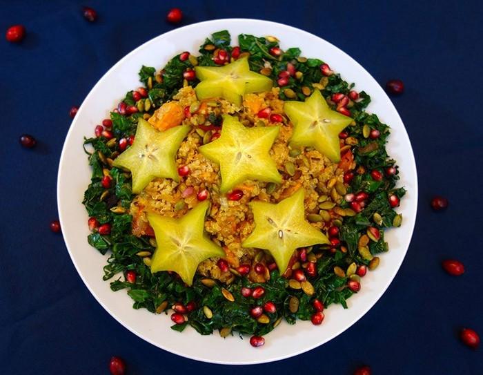 Хотя бы один жёлтый салат обязателен.