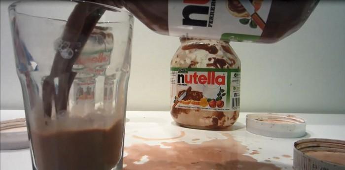 Как сделать шоколадный коктейль из Nutella
