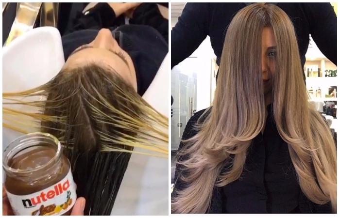 Ореховая паста на волосах? Зачем?