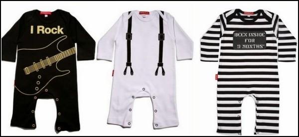Рокерские принты на одежде для малышей до года и старше