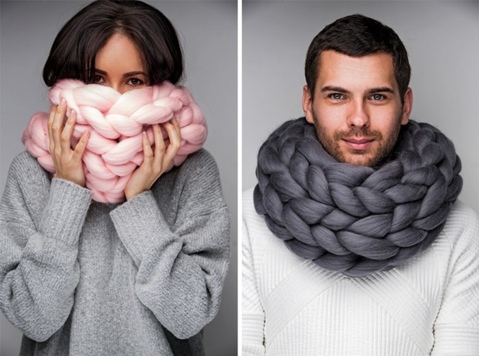 Ohhio – уютная одежда и аксессуары гигантской вязки от киевского дизайнера