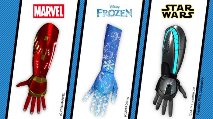 Высокотехнологичные протезы напомнят о любимых персонажах