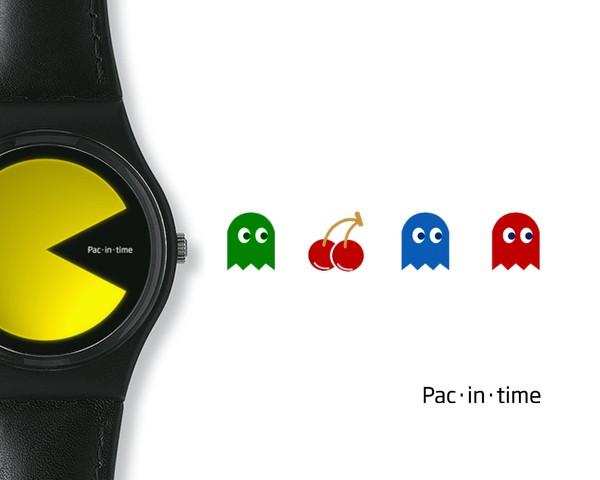 Pac-Man вечен. Теперь и на часах.