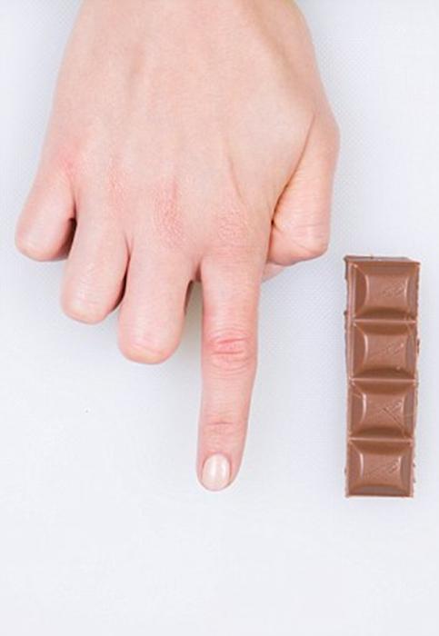Порция шоколада.