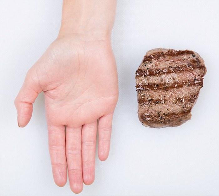 Порция мяса.