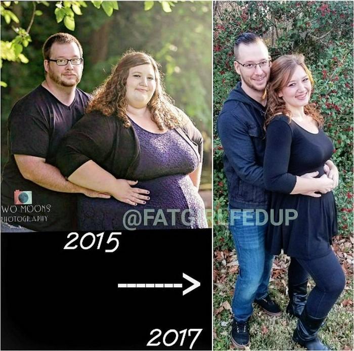Результат за два года: - 180 кг на двоих. И это ещё далеко не предел.