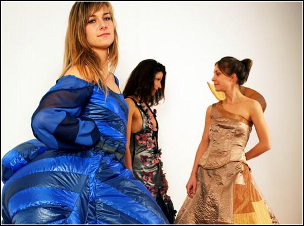 Метеозависимые дизайнерские платья из «Ослиной кожи»