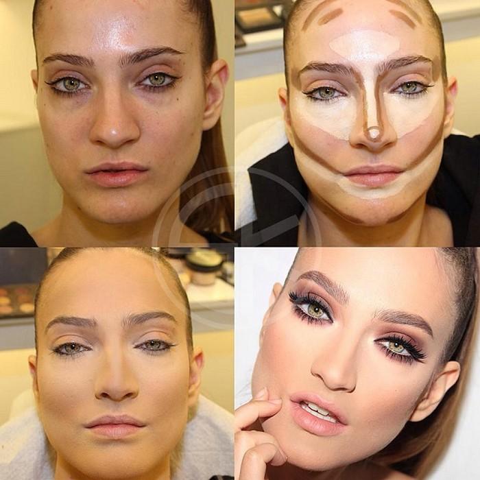 макияж лица пошаговое фото в домашних условиях фото