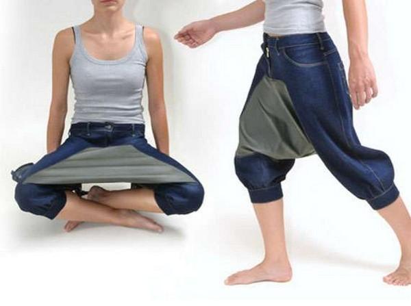 Дизайнерские штаны для «стильного» приёма пищи