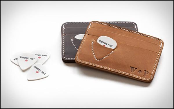 Кожаный кошелёк для денег и медиаторов