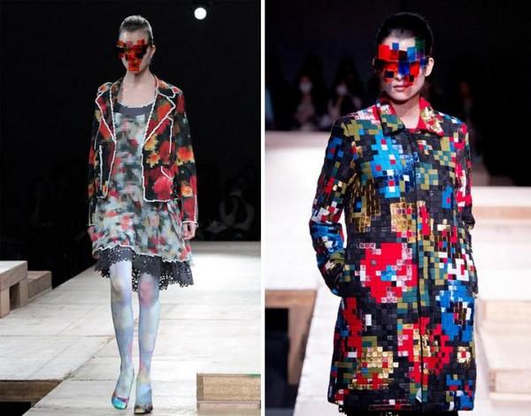 Одежду и мебель в стиле пиксел-арт представляет японский бренд Anrealage
