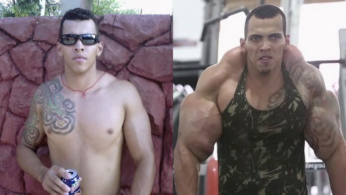 Халк до и после стероидных инъекций