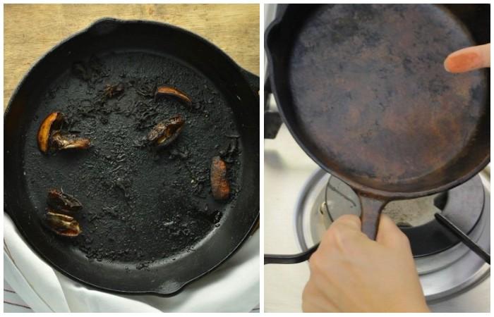 Как спасти сковороду даже от «сурового» нагара.