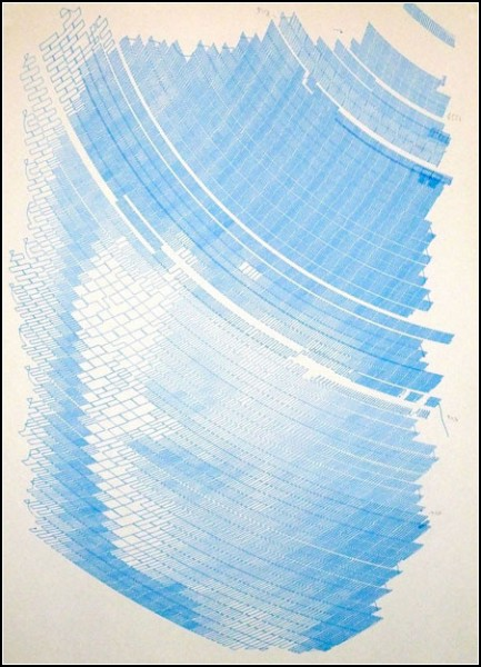 Картина необычного художника - робота Polargraph