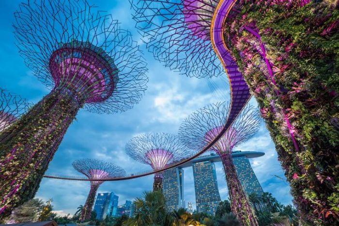 ТОП-10 популярных городов 2017: Сингапур.