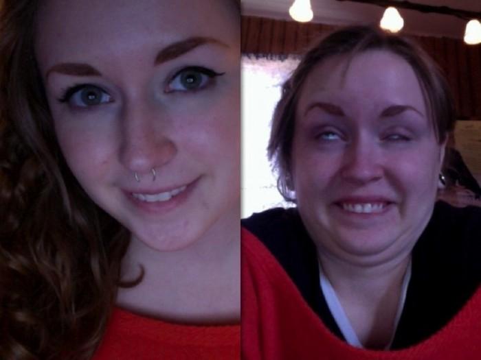 Участницы конкурса «Pretty girls making ugly faces»: узнать можно только по бровям.
