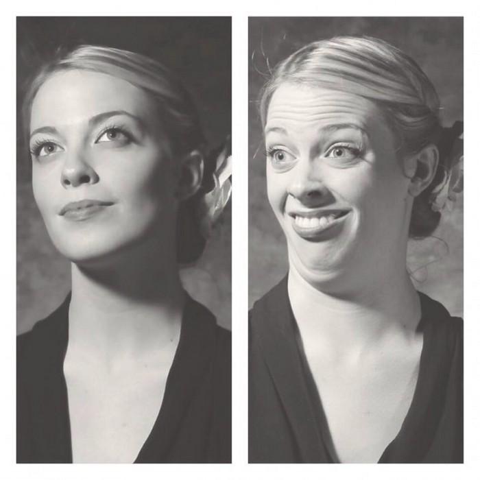 Участницы конкурса «Pretty girls making ugly faces»: классический портрет.