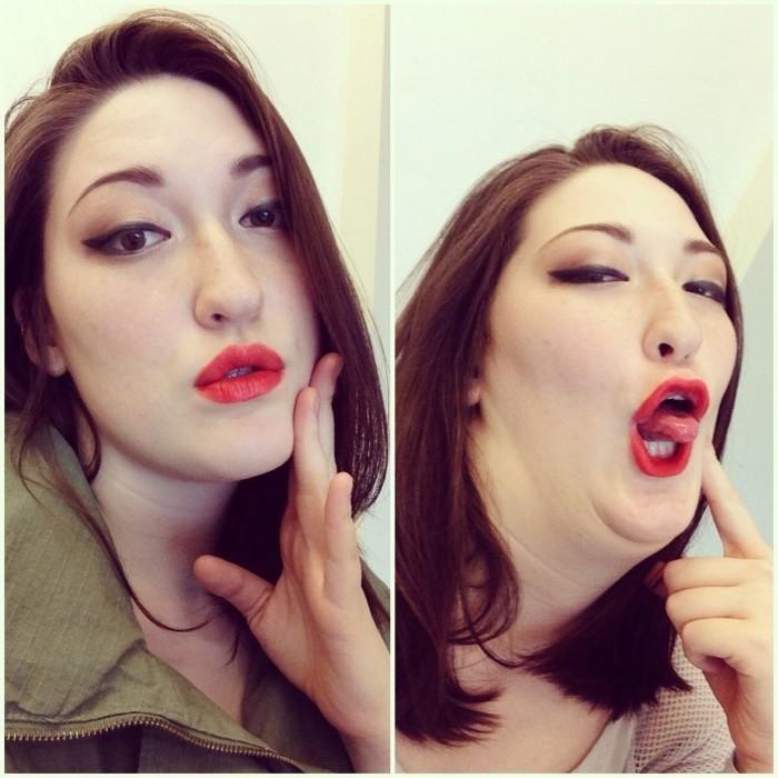 Участницы конкурса «Pretty girls making ugly faces»: не очень соблазнительное селфи.