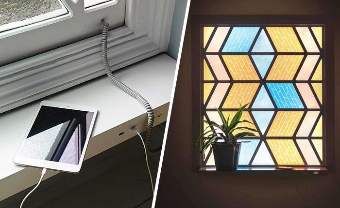 Витражные окна зарядят телефон или планшет