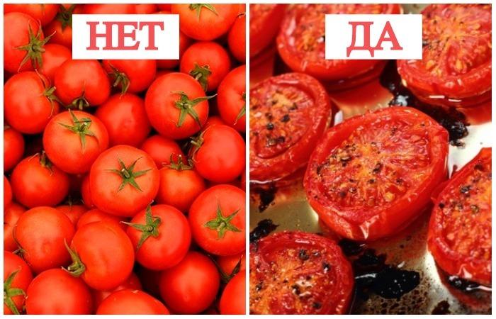 Тушёные помидоры самые полезные.
