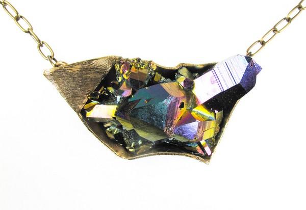 Коллекция дизайнерских украшений  с натуральными кристаллами от Дэбры Бэкстер (Debra Baxter)