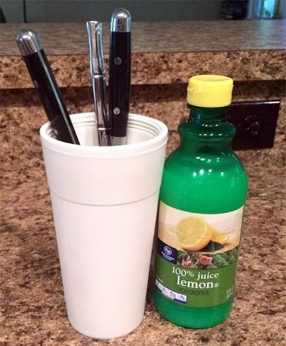 Лимонный сок против ржавчины.