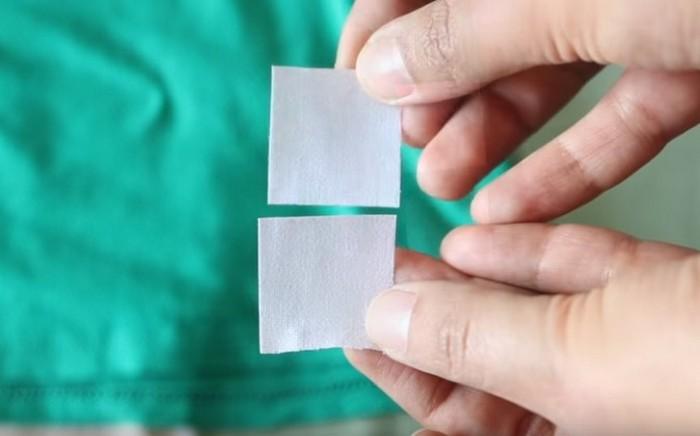 Вырежьте из «паутинки» два одинаковых квадрата.