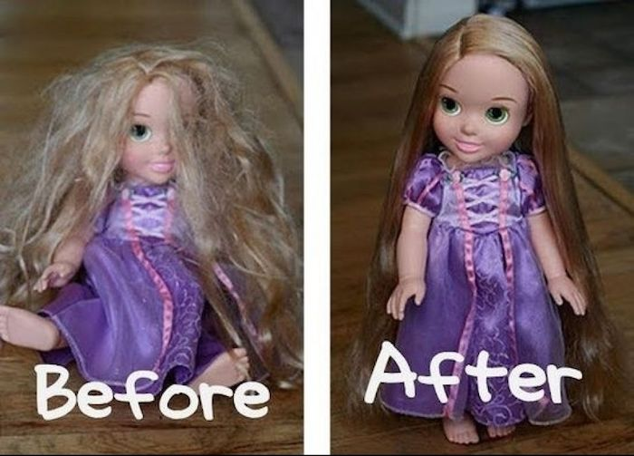 Делаем средство, чтобы распутать кукольные волосы.