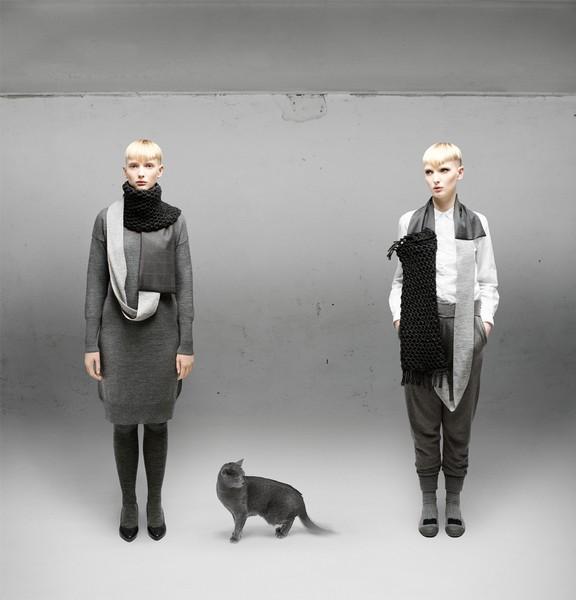 Знакомьтесь, переделки одежды в шарфы от дизайнера Aiste Nesterovaite.