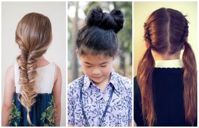10 чудесных причёсок для маленьких школьниц